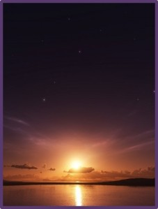 Sunset-Stars-Over-Beach
